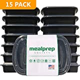 Meal Prep Containers 1 Compartment - Plastic Food Containers for Meal Prepping - Lunch Containers Food Prep Containers - Reusable Food Storage Containers with lids [15 pack]