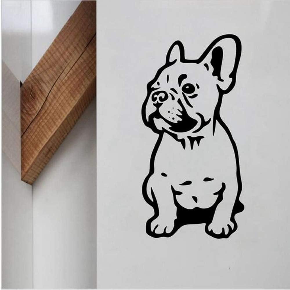 Geiqianjiumai Lindo Perro Bulldog francés Etiqueta de la Pared de ...