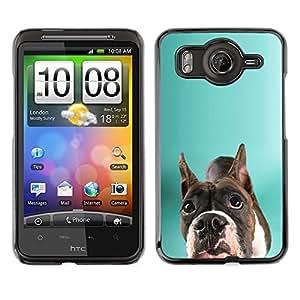 Vortex Accessory Carcasa Protectora Para HTC DESIRE HD - Staffordshire Bull Terrier Green Dog -