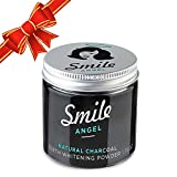 Activated Charcoal Teeth Whitener Tooth and Gum Powder by Smile Angel. An All Natural Safe Whitening Alternative to Toothpaste.