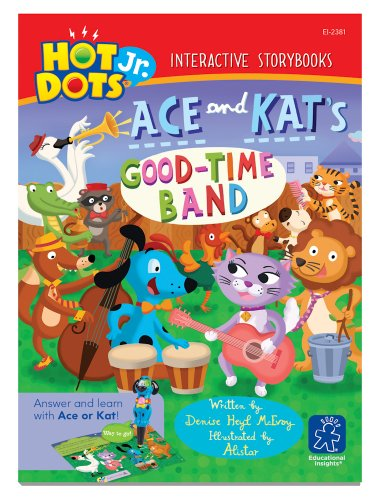 - Educational Insights Hot Dots Jr. Interactive Storybooks Ace and Kat's Good-Time Band, Pack of 6