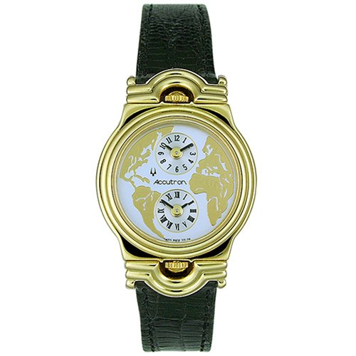 Accutron Ladies Swiss - Accutron Women's 27L06 World Leather Watch
