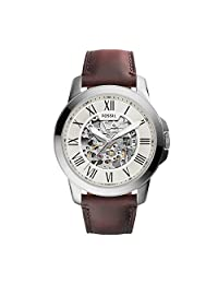 Fossil Men's ME3099 Self-Wind Stainless Steel Watch with Brown Band
