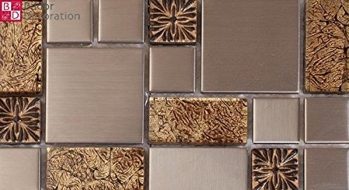 Tappetini m² mosaico di vetro mosaico piastrelle in acciaio