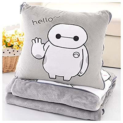 Soft gray big hero 6 Baymax throw pillow & blanket 2 in 1 by SWH: Toys & Games