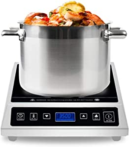 Commercial Induction Cooktop, Warmfod Countertop Range Burner 3500W(240v) LCD Screen, Expert using for Home, Industrial Kitchens and Catering Services