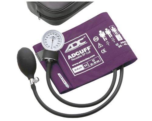 - ADC Prosphyg 760 Pocket Aneroid Sphygmomanometer with Adcuff Nylon Blood Pressure Cuff, Adult, Purple