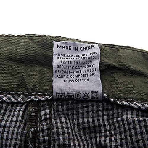 Poches Confortable Coton vert noir Pantalon Cargo Militaire Camouflage De Homme Kaki Multi Aieoe Fr42 gris bleu Taille En Casual Vert Loisirs 50 Ppzw0xxq