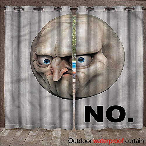 cobeDecor Humor Outdoor Curtains for Patio Sheer Rage Emotion Comics W72 x L96(183cm x 245cm)