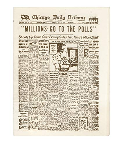 Melody Dollhouse Newspaper US Broadsheet Miniature Study Living Room Hall Accessory