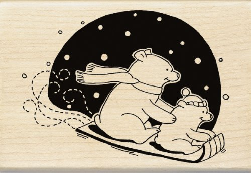 Inkadinkado Cute Polar Bear Wood Stamp Polar Bear Wood