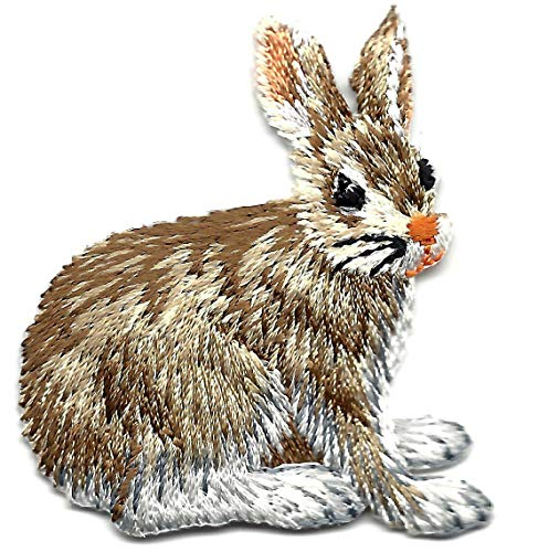 (RABBIT, FOREST ANIMAL- Iron On Embroidered Applique/Bunny, Cute Critters)