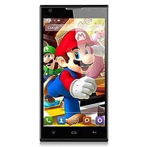 Cubot P7 5,0 Zoll IPS Kapazitiven Bildschirm Andriod 4,2 MTK6582M Quad Core 1,3GHz Dual Kamera Dual SIM Karte Dual Standby Wifi Bluetooth GPS 3G Smartphone (Schwarz)