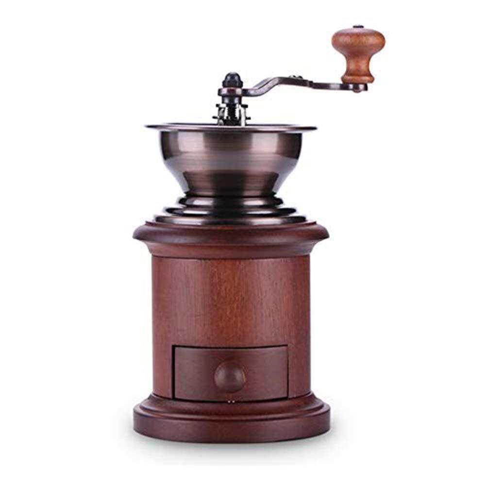 手動コーヒーグラインダー豆機木製コーヒー豆スパイスビンテージスタイルハンドコーヒーミル   B07R1M8GXP