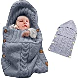 featured product Colorful Newborn Baby Wrap Swaddle Blanket, Oenbopo Baby Kids Toddler Knit Blanket Swaddle Sleeping Bag Sleep Sack Stroller Wrap for 0-12 Month Baby (Grey)