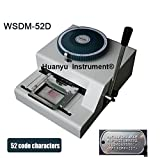 WSDM-52D Manual code printer Metal dog plate embossing machine Letterpress rotogravure printing machine