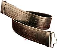 iLuv Kilt Belt Celtic Leather Velcro Fastening Option Medium (34inch to 40inch)
