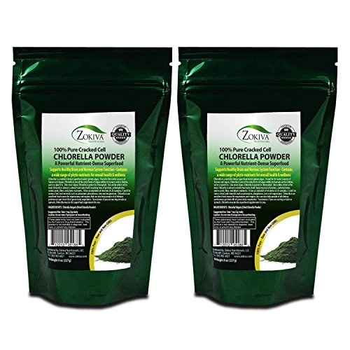 Chlorella poudre 1LB - cellule fissuré, cru 100 % Pure nutritifs algues