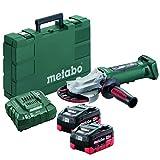 Metabo 18V 5' Flat Head Angle Grinder 6.2Ah Kit