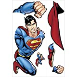RoomMates Superman Day Of Doom Peel and Stick Giant Wall Decal,Multicolor,Pack of 1