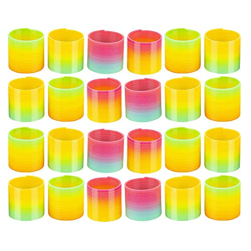 Kicko Plastic Rainbow Coil Spring - Set of 24-1.4
