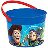 Amscan Toy Story Power Up Birthday Party Plastic Favor Container, 4 1/2