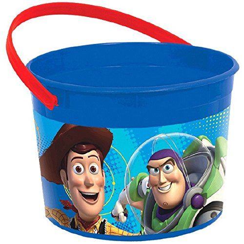 Toy Story Bucket (Amscan Toy Story Power Up Birthday Party Plastic Favor Container, 4 1/2