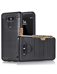 GBSELL Shockproof Hard PC + Siliconer Card Holder Case Cover Skins For LG G6