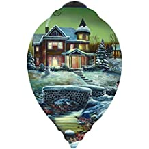 "Ne'Qwa Art, Christmas Gifts, Limited Edition, ""Homeward Bound"", Artist Jim Hansel, Princess-Shaped Glass Ornament, #7151138"