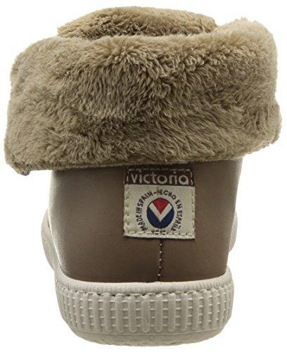 Victoria Safari Alta Piel Tintada Pelo - Zapatillas de Deporte de cuero Unisex Beige - Beige (Taupe)