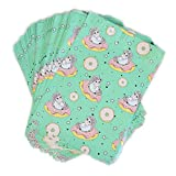 PAXTRA 10x13 100-Pack Unicorns on doughnuts Teal Sea foam green Designer Poly Mailers Colorful Trendy Cute Children themed Shipping Supplies Envelope Mailing Bags Sealed Gifts Boutique Custom Bag Waterproof Packages with Self Adhesive Strip, Water Resistant