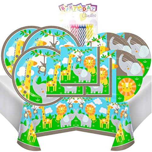 Jungle Animals Themed Party Pack – Includes 24 9
