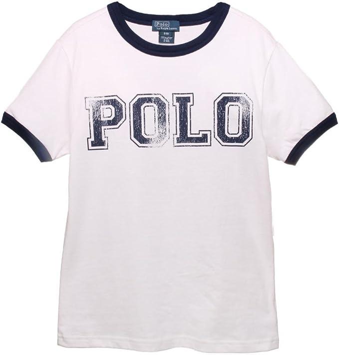 Ralph Lauren niños T-Shirt de Timbre de impresión de niños Jersey ...
