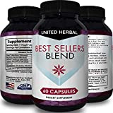 Natural Garcinia Cambogia Extract HCA Weight Loss Pills Women & Men Fat Burning Capsules Suppress Appetite Boost Metabolism with Raspberry Ketones Green Coffee Bean Chlorogenic Acid by United Herbal