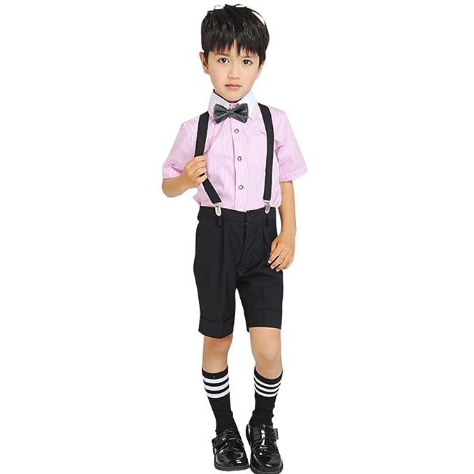 卒業式 子供服 男の子 Cuteshower キッズ 入学式 発表会 七五三 半袖 5点セット フォーマルスーツ 結婚式