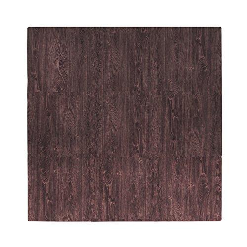 Tadpoles 9 Piece Playmat Set, Cherry, Wood Grain, 18 Inch ()