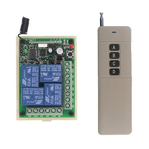 - Abytele 3000m Long Distance DC 12V 24V 4 Channel 4CH RF Wireless Remote Control Switch System, (1 Receiver + 1 Transmitter) (12V 315 MHz)