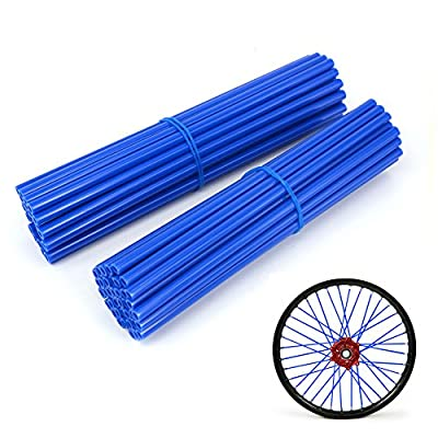 JFG RACING 72 Pcs Blue Motorcycle Spoke Covers Guards For 19