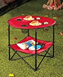 Folding Picnic Table with Shelf Comes with a tote bag