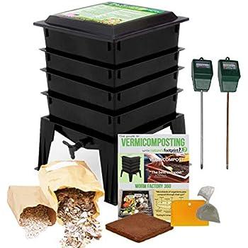 Amazon.com : Worm Factory 360 WF360B Worm Composter, Black ...