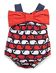 Mud Pie Baby-Girls Swimsuit Little Whale 9-12 months
