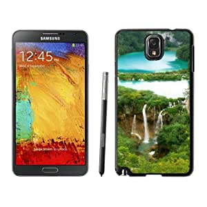 New Beautiful Custom Designed Cover Case For Samsung Galaxy Note 3 N900A N900V N900P N900T With Nature Fairy Waterfall Forest Landscape Phone Case