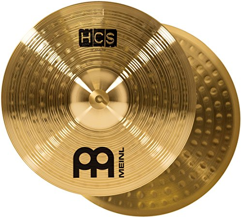 "Meinl 13"" Hihat (Hi Hat) Cymbal Pair – HCS Traditional Finish Brass for Drum Set, Made In Germany, 2-YEAR WARRANTY (HCS13H) ()"