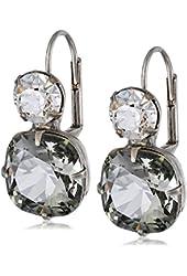 Sorrelli Cushion-Cut Crystal Antique-Style Drop Earrings