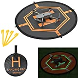 XBERSTAR Double Side Day&Night Foldable Apron Landing Pad for DJI Mavic Pro Inspire 1 Phantom4 3 Quadcopter RC Drone Portable Fast-fold launch helipad