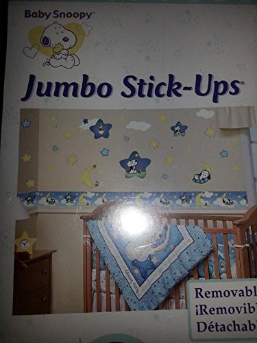 Peanuts BABY SNOOPY - Removable Jumbo Stick-Ups Stickers - Nursery Wall Decor