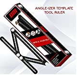 DMTOOLS PREMIUM Multi-Angle Measuring Ruler: Heavy Duty Aluminum Alloy | Angleizer Template Tool | Perfect gift for Carpenters, Roofers, Handymen, Craftsmen, Builders, Tilers | Precision Measurement