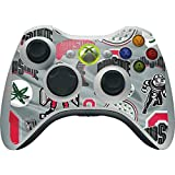 Ohio State University Xbox 360 Wireless Controller Skin - Ohio State Pattern Vinyl Decal Skin For Your Xbox 360 Wireless Controller