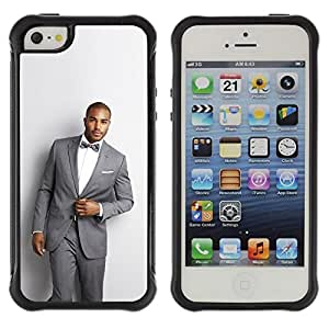 Suave TPU GEL Carcasa Funda Silicona Blando Estuche Caso de protección (para) Apple Iphone 5 / 5S / CECELL Phone case / / Man Suit Handsome Bowtie Fashion Trendy /