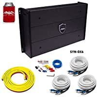 Wet Sounds SYN-DX 6 Full Range 6 Channel Amplifier & Stinger 3-Meter 4-Gauge Amplifier Wiring Kit w/RCAs